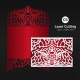 Taglio del laser con il cranio Enverlope per il modello tagliato royalty illustrazione gratis