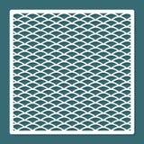 Taglio del laser dell'onda dell'ornamento del modello Reticolo geometrico Elemento decorativo interno Immagini Stock