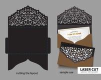 Taglio del laser di vettore Fotografia Stock