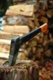 Taglio del legname immagine stock
