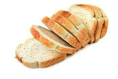 Taglio del pane Immagine Stock