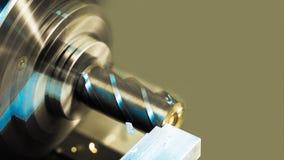 Taglio del pezzo in lavorazione di alluminio Priorità bassa industriale Immagine Stock