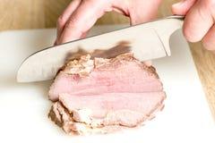 Taglio del prosciutto al forno Fotografia Stock