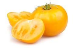 Taglio dell'arancia del pomodoro Fotografia Stock