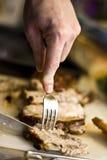 Taglio della bistecca 2 Fotografia Stock