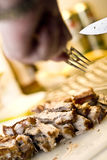 Taglio della bistecca 4 Fotografie Stock Libere da Diritti