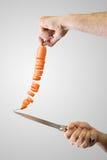 Taglio della carota Fotografia Stock