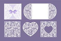 Taglio della carta del cuore di vettore Cuore bianco fatto di carta Taglio del laser Fotografie Stock Libere da Diritti