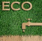 Taglio della carta del eco su erba verde Immagine Stock Libera da Diritti