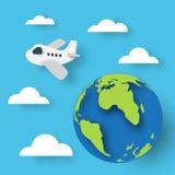 Taglio della carta del pianeta di viaggio Fotografia Stock