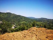Taglio della collina sull'altopiano di Penampang per l'abitazione dei diagrammi in Kota Kinabalu, Sabah fotografia stock libera da diritti