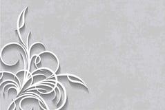 Taglio della decorazione di carta di stile su un fondo invecchiato illustrazione vettoriale