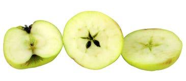 Taglio della mela Fotografia Stock