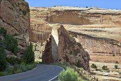 Taglio della roccia del monumento nazionale del Colorado Fotografie Stock Libere da Diritti
