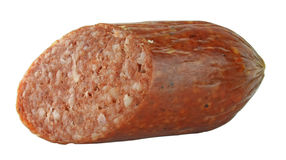 Taglio della salsiccia Immagine Stock Libera da Diritti