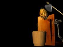 Taglio della zucca Immagine Stock