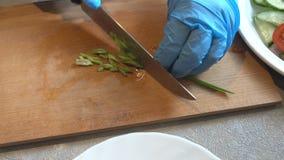 Taglio delle cipolle video d archivio