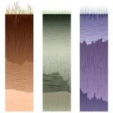 Taglio delle colonne del terreno (profilo). Fotografia Stock