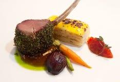 Taglio di agnello gastronomico Fotografia Stock