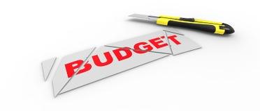Taglio di bilancio Immagine Stock