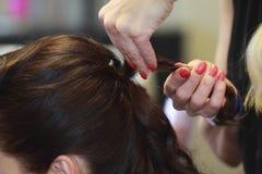 Taglio di capelli e capelli di designazione Fotografie Stock