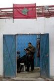 Taglio di capelli marocchino Fotografia Stock