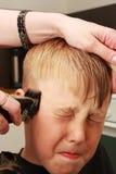 Taglio di capelli professionale fotografie stock libere da diritti