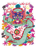 Taglio di carta del drago Fotografie Stock