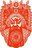 Taglio di carta tradizionale cinese Art Sprint Festival New Year illustrazione di stock