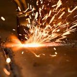 Taglio di gas fotografie stock
