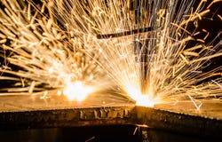 Taglio di gas del metallo immagine stock libera da diritti