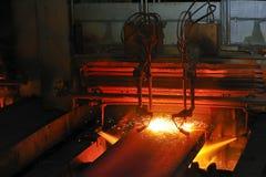 Taglio di gas del metallo caldo Immagini Stock Libere da Diritti