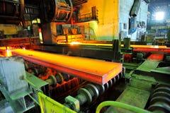 Taglio di gas del metallo caldo Immagine Stock