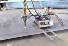 Taglio di gas della lamina di metallo Fotografia Stock