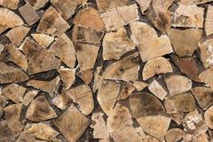 Taglio di legno ed impilato Fotografia Stock