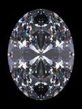 Taglio di ovale del diamante Fotografia Stock Libera da Diritti