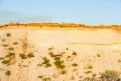 Taglio geologico delle sabbie fotografia stock