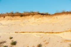 Taglio geologico delle sabbie Fotografia Stock Libera da Diritti
