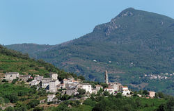 Taglio-Isolacciodorf in oberem Korsika Stockbilder