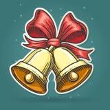 Taglio Jingle Bells Emblem della carta Immagine Stock Libera da Diritti