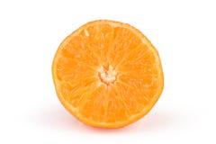 Taglio maturo del mandarino immagini stock libere da diritti