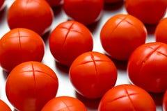 Taglio rosso dei pomodori Fotografia Stock Libera da Diritti