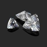 Taglio trilliant dei diamanti Fotografia Stock