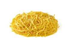Tagliolini, ιταλικά ζυμαρικά αυγών Στοκ Εικόνα