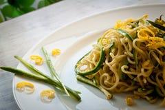Tagliolini con gli zucchini Fotografia Stock Libera da Diritti