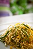 Tagliolini with courgettes, portrait Stock Image