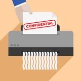 Tagliuzzamento della lettera confidenziale Immagine Stock Libera da Diritti