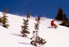 Tagliuzzamento dello Snowboarder Fotografia Stock Libera da Diritti