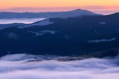 tagna ukrainare för carpathians gryningberg var bilden Royaltyfria Foton