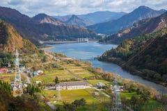 Tagokura Dam Lake at Fukushima in Japan Royalty Free Stock Photos